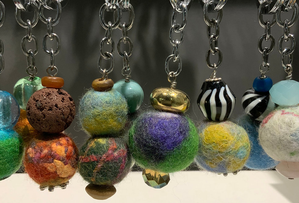 More Felt Ball Keyrings