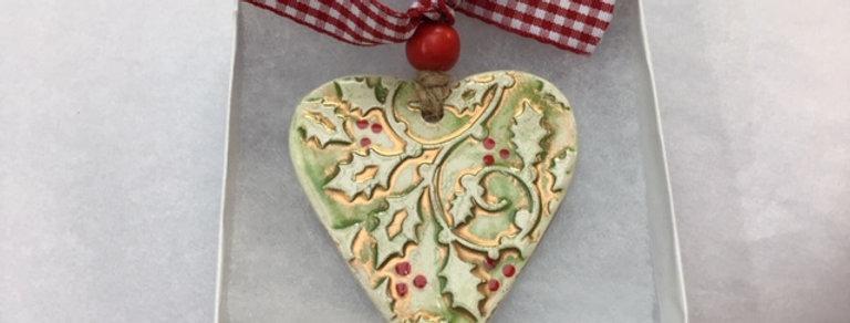 Holly Heart Decoration