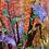 Thumbnail: Mauve Fan Flowers  - Mulberry Silk