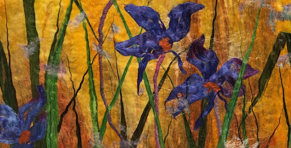 Square Silk Flower Cards