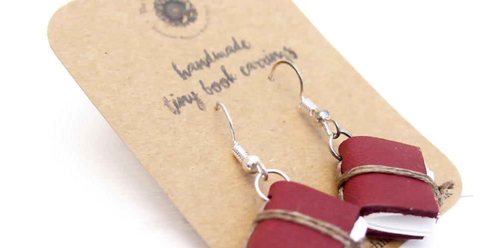 Tiny Book Earrings