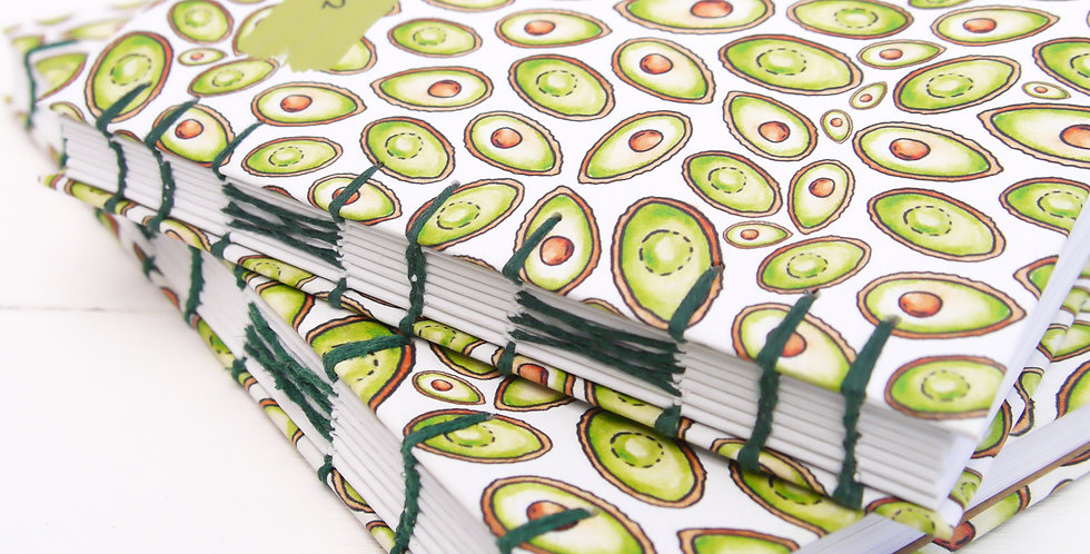 Hand-bound Avocado Recipe Journal