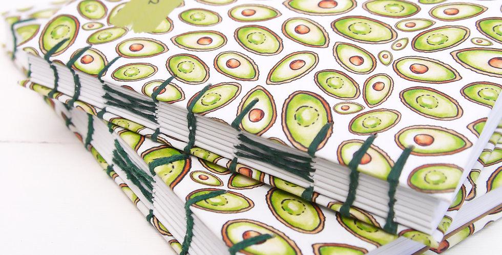 Hand-bound Avocado Recipe Journal