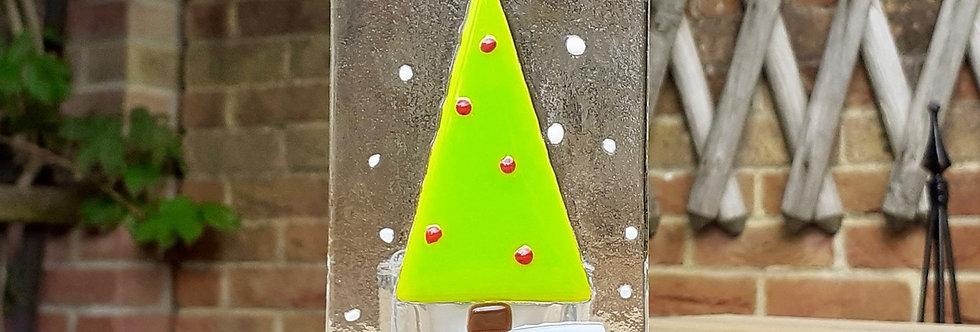 Christmas Tree Candle Panel