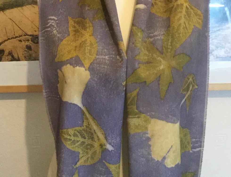 Ecoprinted Wool Scarf