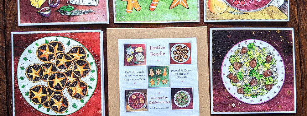 Pack of Festive Foodie Cards