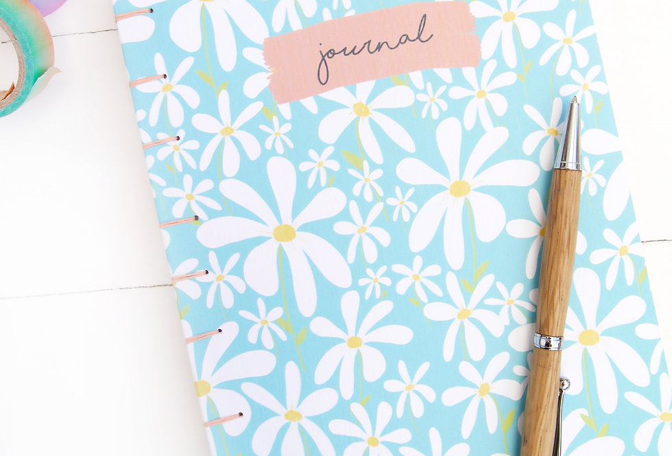 Hand-Bound Daisy Journal