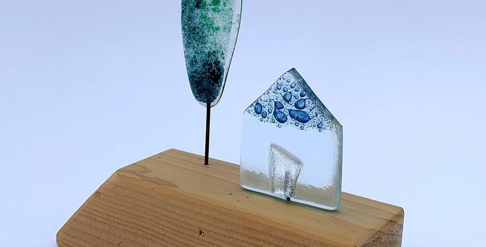 Recycled Glass Beach Hut