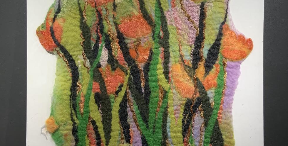 Orange Flowers (Unframed)
