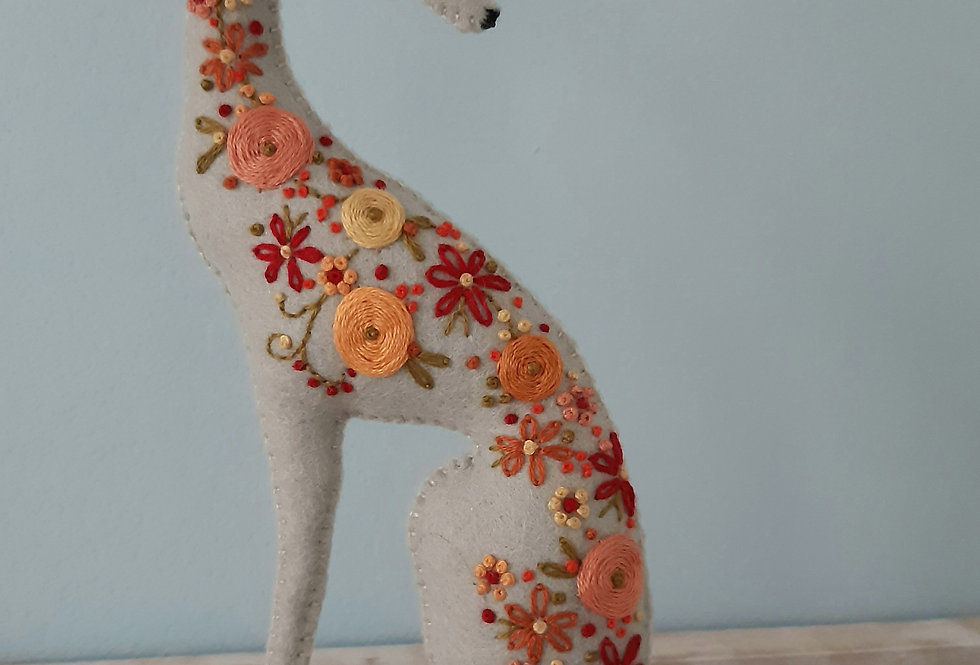 Embroidered Whippet