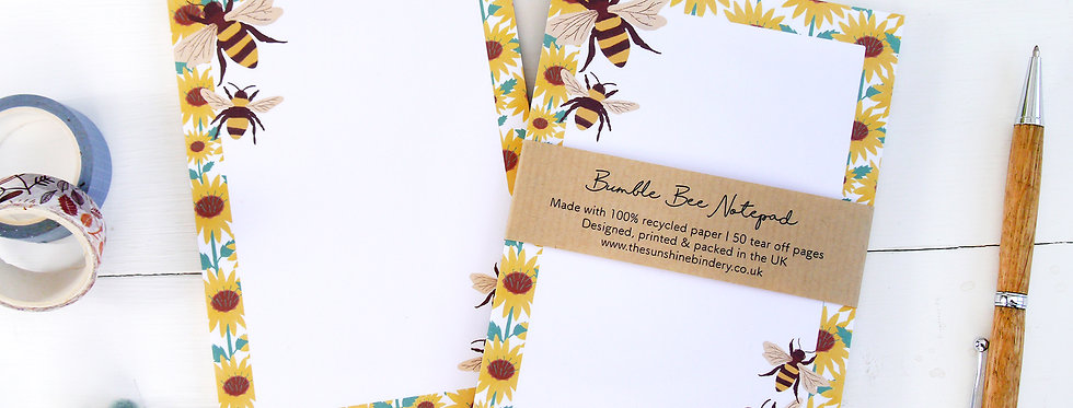 Bumble Bee A6 Notepad