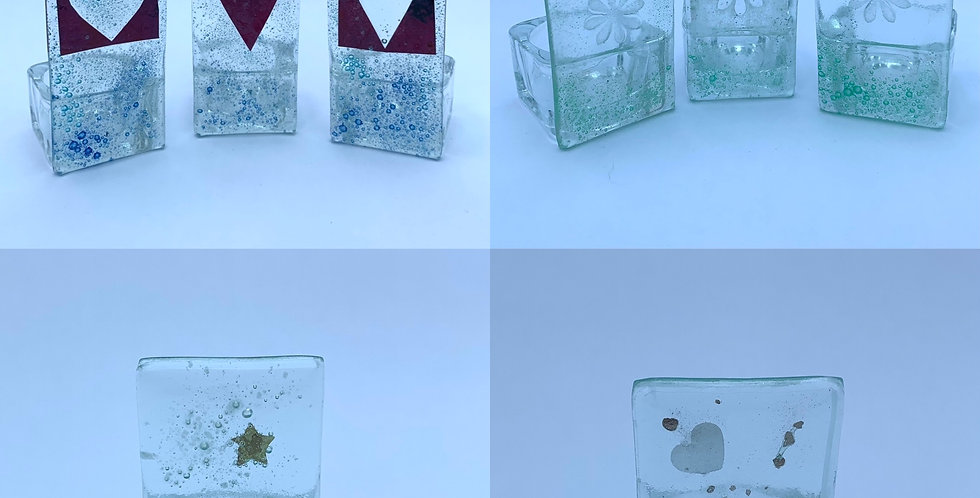 Recycled Glass Tea Light Holders
