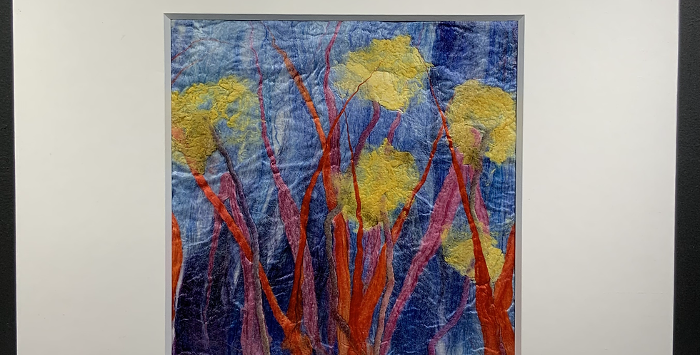 Medium Square Silk Flowers (Unframed)