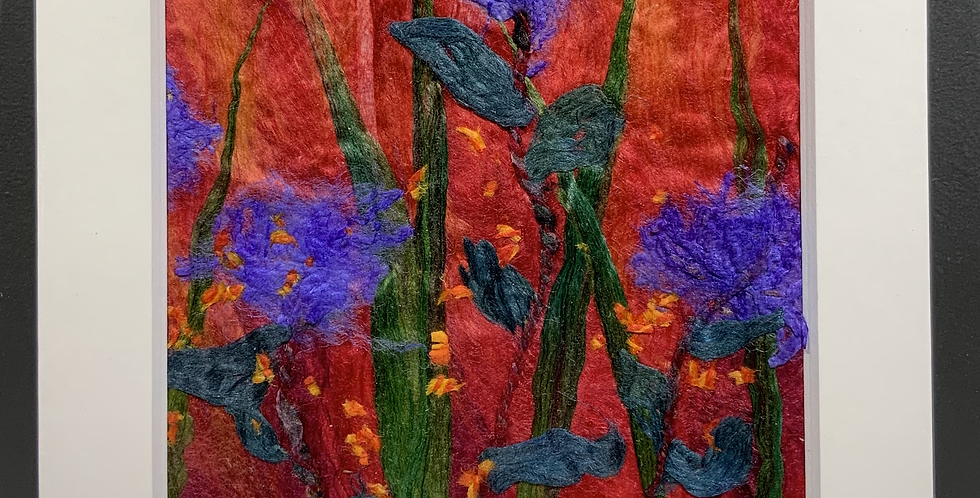 Small Square Silk Flowers (Unframed)