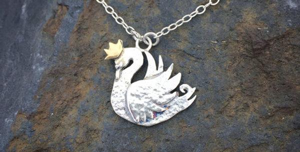 Princess Swan Necklace - Emma
