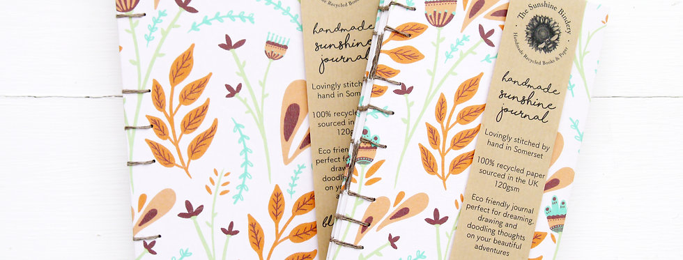 Hand-Bound Folk Flowers Journal
