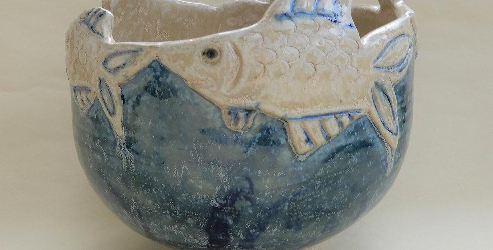 Fish Topped Bowl - Large