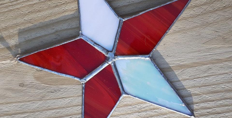Tiffany Style Glass Star