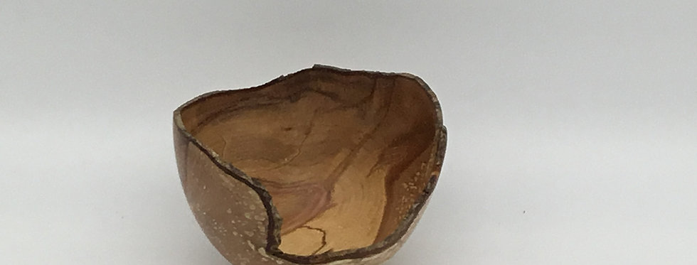 Small Spalted Hazel Bowl