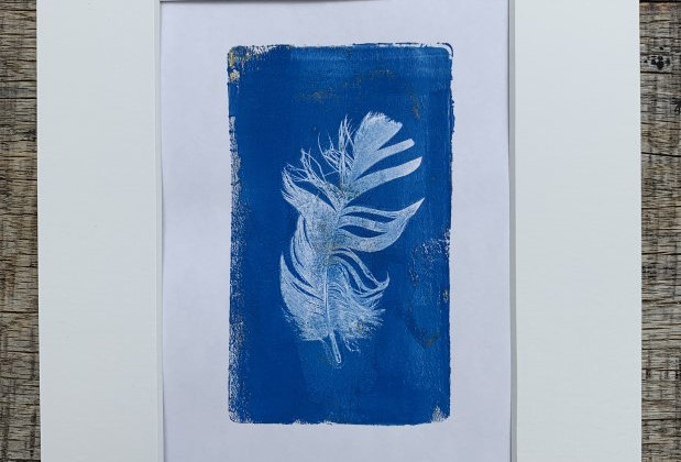 'Feather Wish II' - Original Monotype by Kate Osman