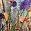Thumbnail: Purple Fan Flowers - Mulberry Silk