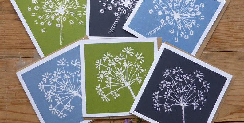 Allium and Fennel Greetings Cards