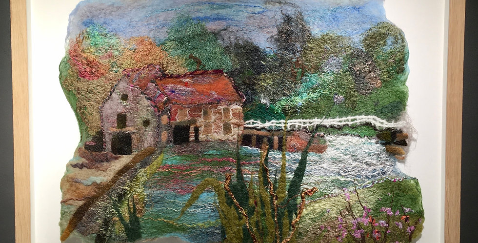 Hand Felted picture of Sturminster Newton Mill