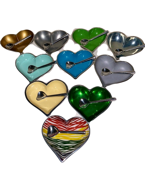 Heart Dishes with Heart Spoon