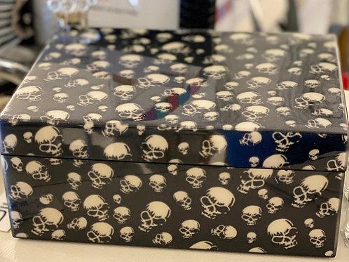 Wooden Skull Box