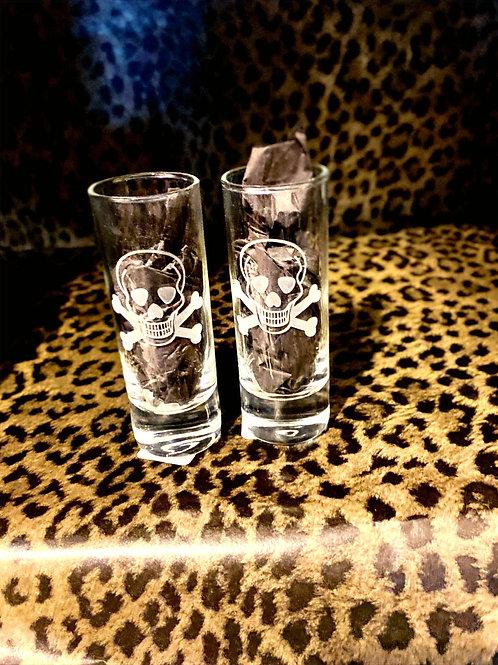 Skull & Crossbones Cordial/Shot Glasses