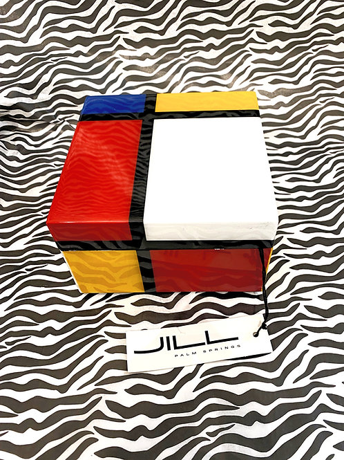 Mondrian Style Lacquered Box