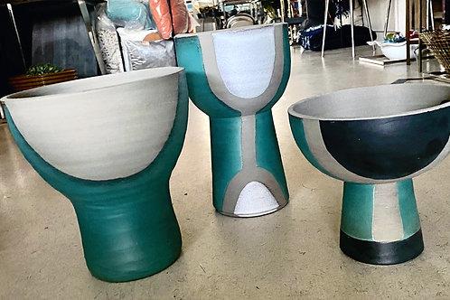 Aqua Arts and Crafts Vase Collection