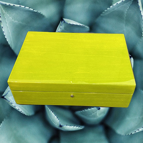 Lime Green Wooden Jewelry Box