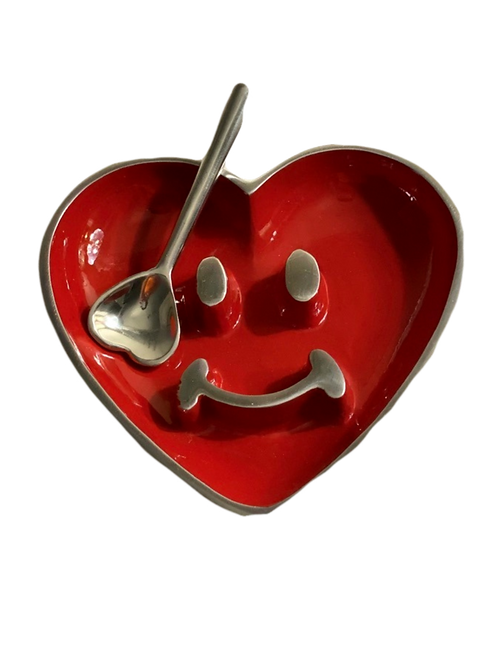 Smile Heart Dish with Spoon