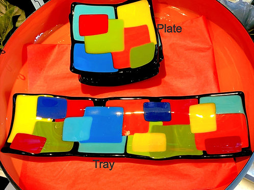 Fused Glass Trays and Plates
