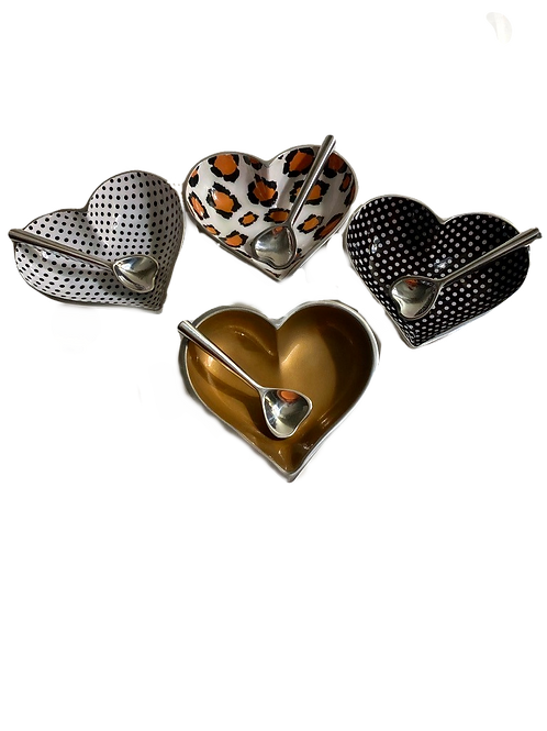 More Heart Dishes w/Spoons