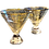 Thumbnail: Stemless Martini Glasses with Gold Trim and Modern Lines