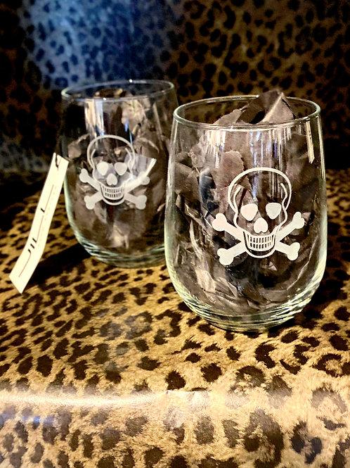 Skull & Crossbones Wine Glasses