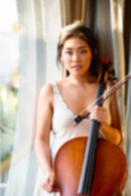 Sarah Kim cello - cellist photo Pia Johnson