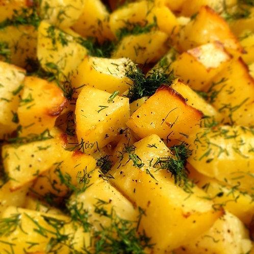 Картофи соте с копър и чесън 100гр.