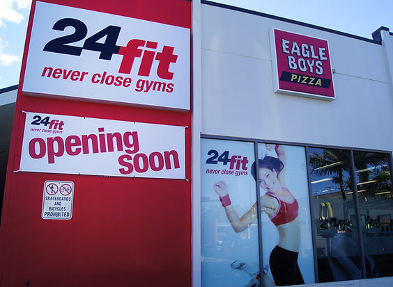 24 Fit Signs and window decals