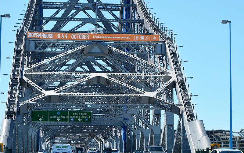 story bridge banners.