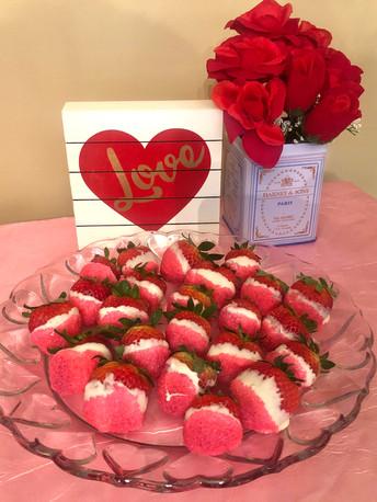 White Chocolate-Covered Strawberries