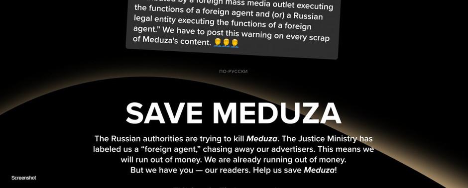 Venäläinen riippumaton uutissivusto Meduza kamppailee olemassaolostaan