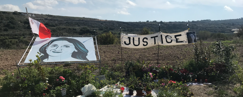 Maltan toimittajamurha: oikeus alkaa vähitellen toteutua