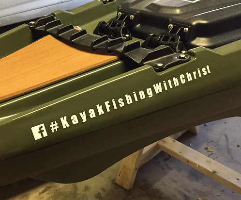 #Kayak Fishing With Christ Vinyl Decal