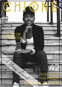 Amara Leggett, A Young Legend wa on the cover CHIONE's latest issue.