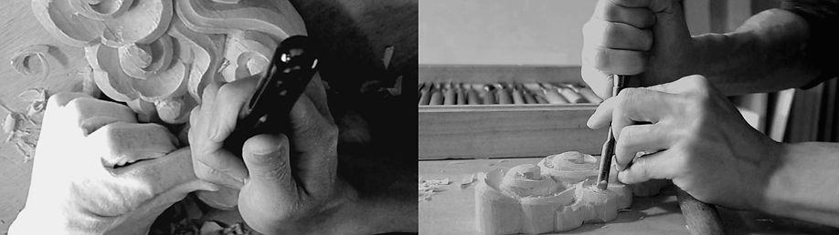 祈り雲素材と職人の彫刻手仕事