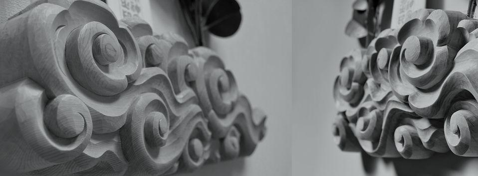 神社にみる伝統的な雲のかたち