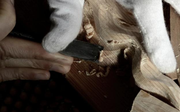 伊勢神宮に使われる木曽桧でモダン神棚を作る